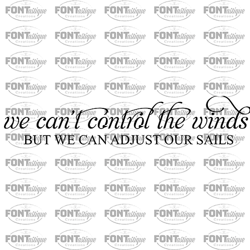 "We can't control the winds (12""x24"")"