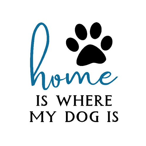 "Home is where my dog is (12""x12"")"