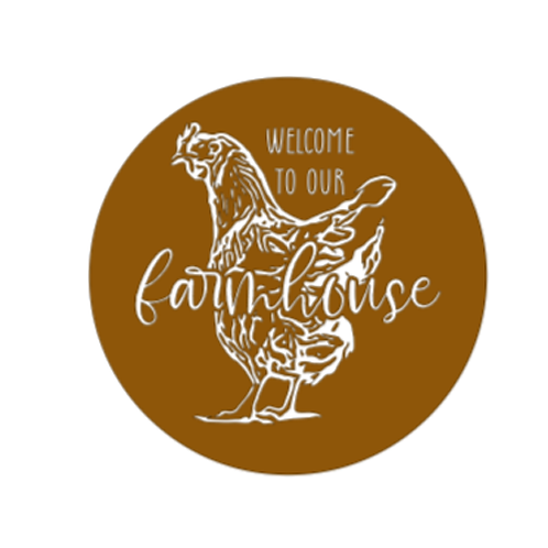 """Front Door Hanger (15"""") - Welcome to our farmhouse"""