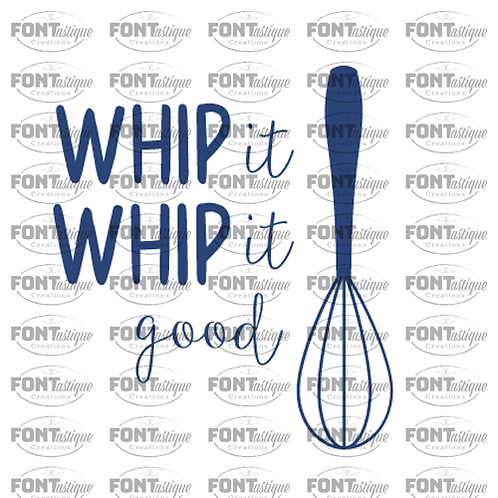 "Whip it Good (12""x12"")"