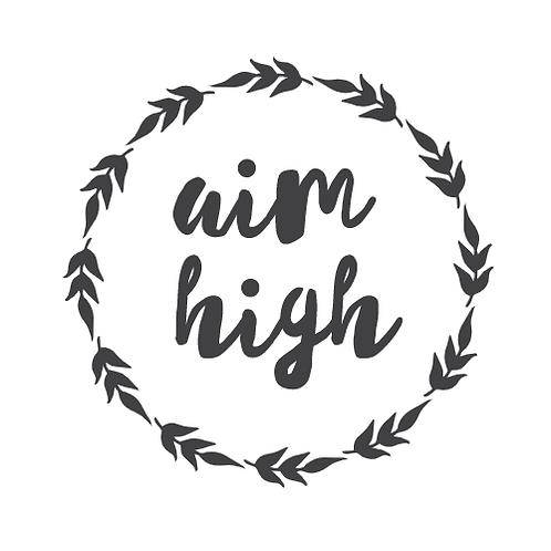 """Aim high wreath (12""""x12"""")"""