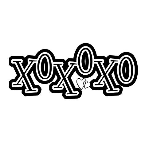 "XOXOXO (12""x24"")"