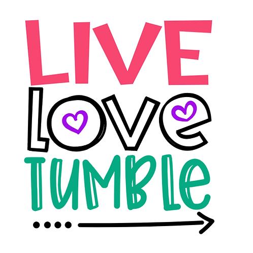 "Live Love Tumble (12""x12"")"