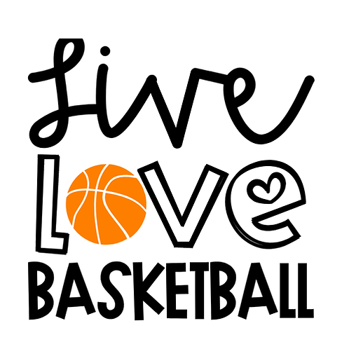 "Live Love Basketball (12""x12"")"