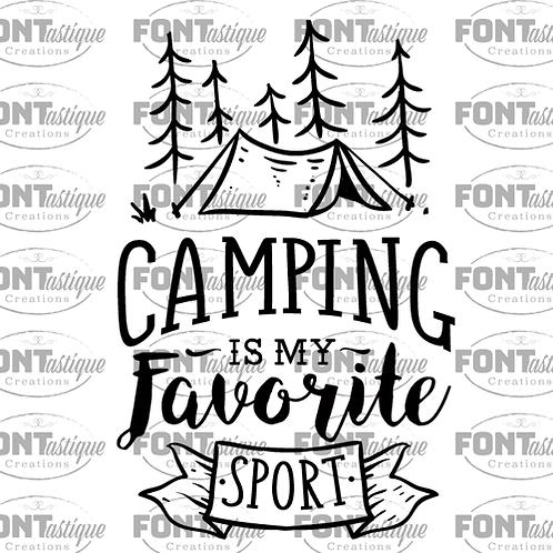 "Camping is my Fav Sport (12""x12)"