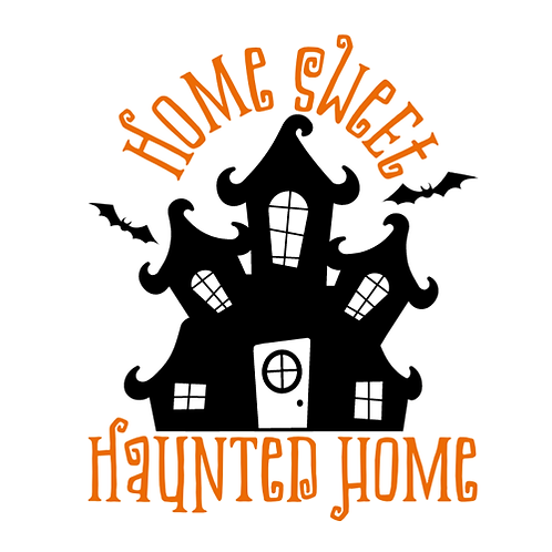 "Home Sweet Haunted Home (12""x 12"")"