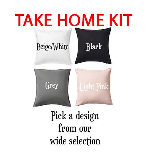 TAKE & MAKE KIT - Paint a pillow - $50 for kit version