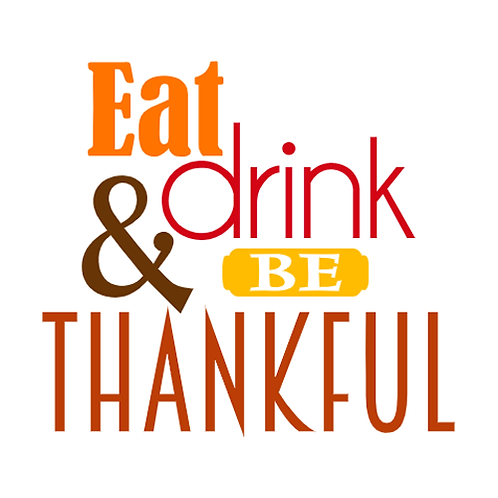 "Eat drink & Be thankful (12""x 12"")"