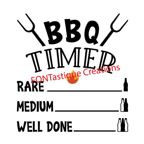 """BBQ Timer  (12""""x 12"""")"""