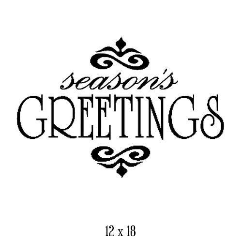 "Season's Greetings (12""x 18"")"