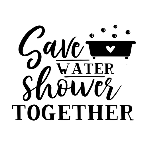 """Save water shower together (12""""x12"""")"""