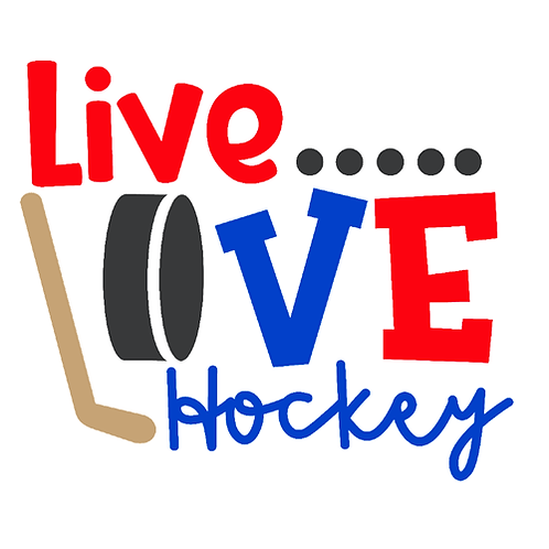 "Live Love Hockey (12""x12"")"