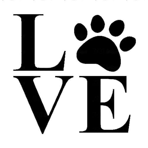 "Love Paw Print (12""x12"")"