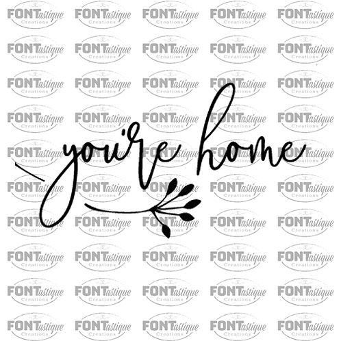 "You're Home (12""x24"")"