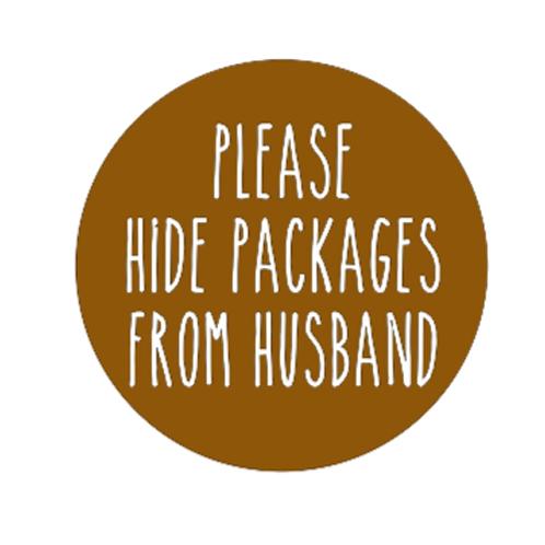 """Front Door Hanger (15"""") - Please hide packages"""