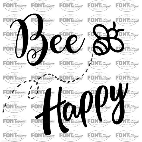 """Bee Happy (12""""x12"""")"""