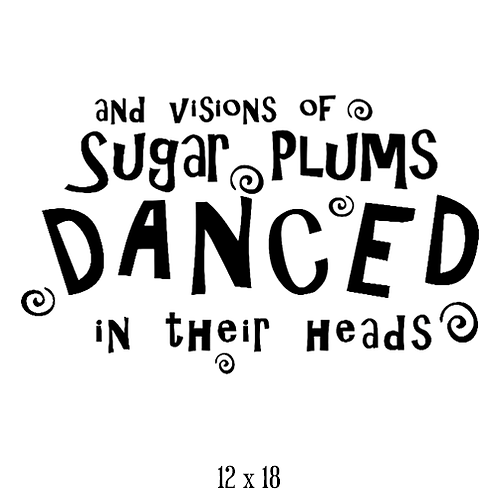 "Sugar Plums (12""x 18"")"