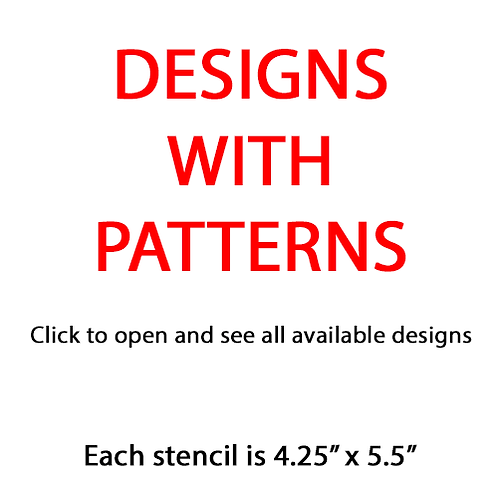 "Patterns (4.25"" x 5.5"")"