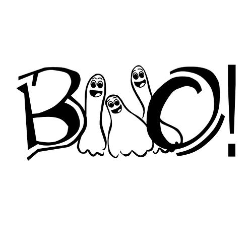 """Boo (12""""x 24"""")"""