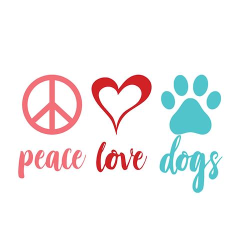 """Peace Love Dogs (12""""x12"""")"""