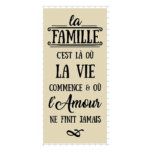 """La famille, La Vie, L'Amour  (12""""x24"""")"""