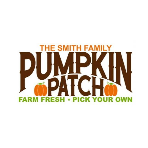 """Family name"" Pumpkin Patch (12""x 24"")"