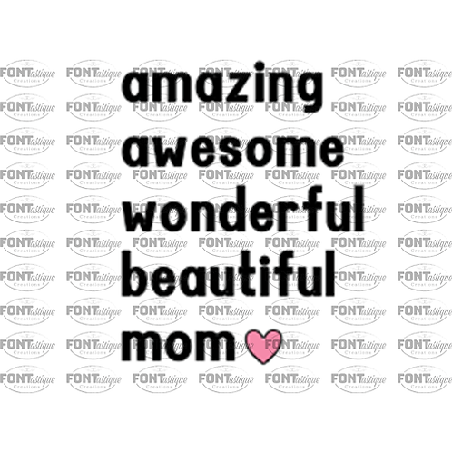 "Amazing awesome Mom (12""x12"")"