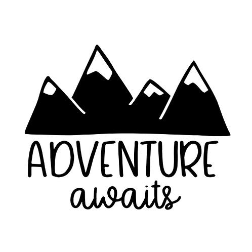 "Adventure awaits (12""x12"")"