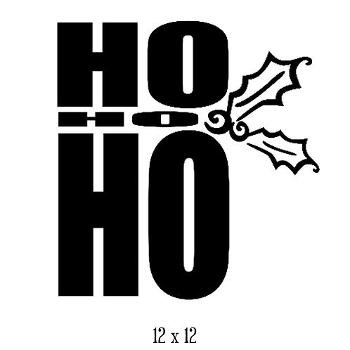 """Ho Ho Ho (12""""x 12"""")"""