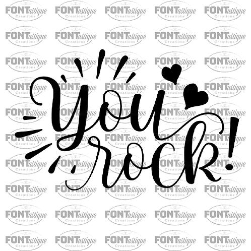 """You Rock (12""""x12"""")"""