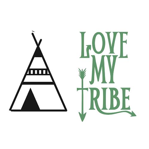 "Love my tribe (tent/arrow) (12""x12"")"