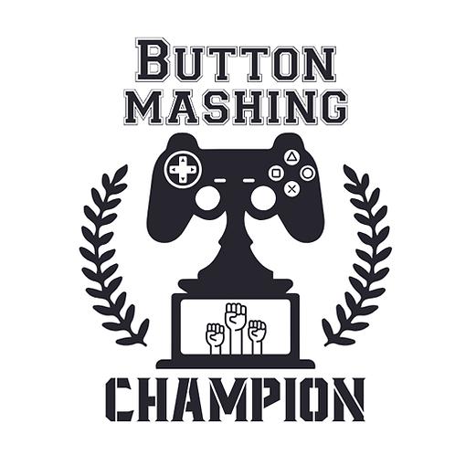 "Button Mashing Champion (12""x12"")"