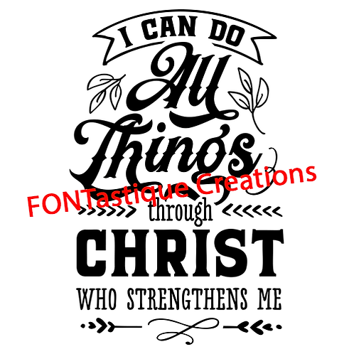 """I can do all things through Christ (12""""x15"""")"""
