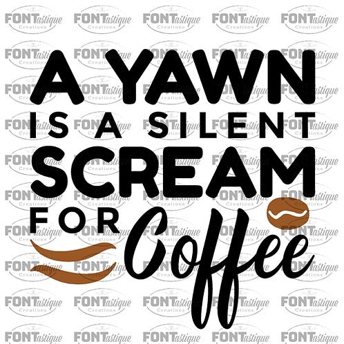 """A yawn is a silent scream (12""""x12"""")"""