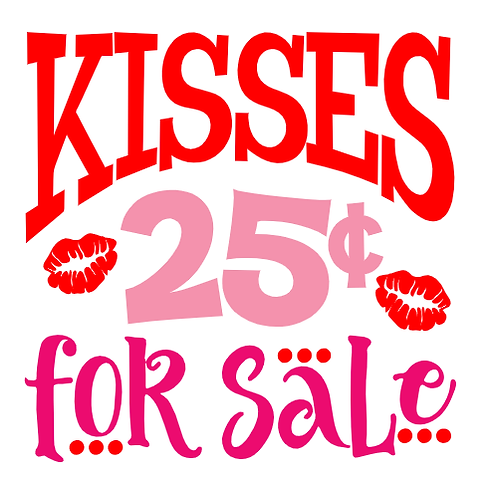 "Kisses for Sale (12""x12"")"