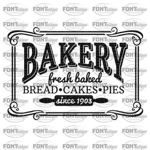 """Vintage Bakery (12""""x24"""")"""