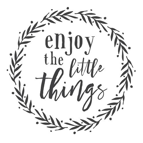 "Enjoy the little things Wreath (12""x12"")"