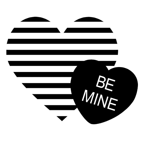 """Be Mine Hearts (12""""x12"""")"""