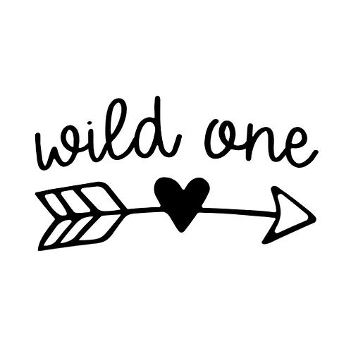 """Wild one (arrow/heart) (12""""x18"""")"""