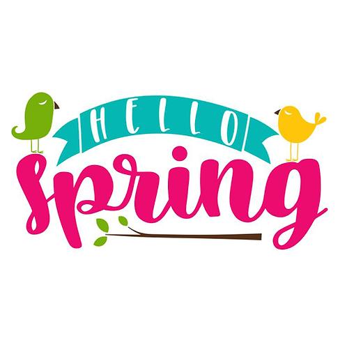 """Hello Spring-birds (12""""x18"""")"""