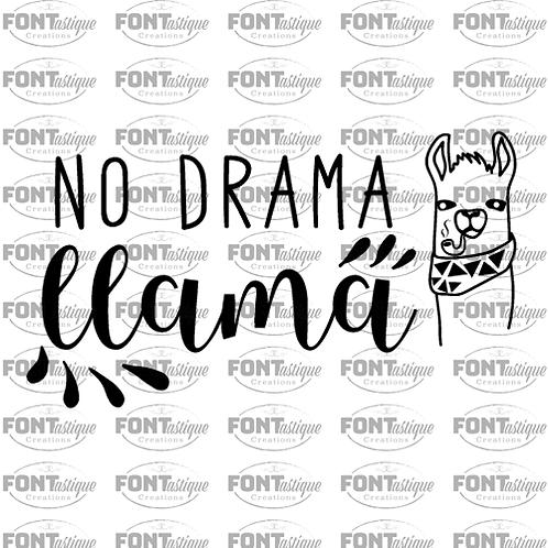 "No drama llama (12""x12"")"