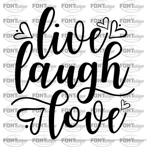 """Live Laugh Love (hearts) (12""""x12"""")"""