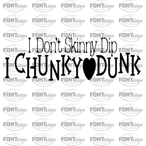 """I don't skinny dip (12""""x24"""")"""