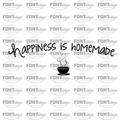 "Happiness is Homemade (coffee cup) (12""x24"")"