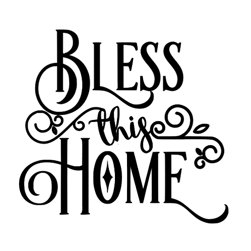 "Bless this Home (12""x12"")"