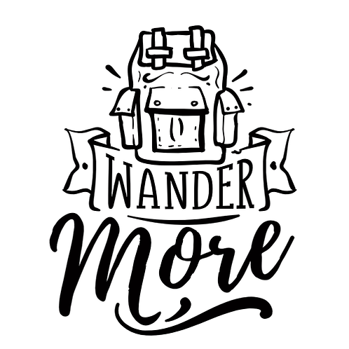 "Wander More (12""x 12"")"