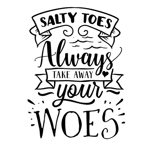 """Salty Toes (12""""x12)"""