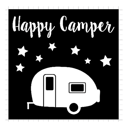 """Happy Camper with Stars (12""""x12"""")"""