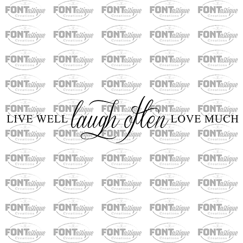 "Live Well Laugh Often (12""x24"")"
