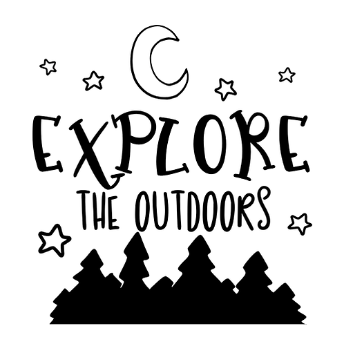 """Explore the outdoors (12""""x12"""")"""